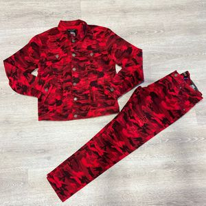 Red Camo Jean Jacket & Jean Pants for Sale in Miami, FL