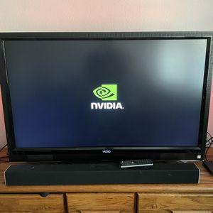55 Inch Vizio Tv (Not A Smart Tv!!) With Vizio Sound Bar / 5.1 Speaker System. for Sale in Mission Viejo, CA