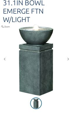 Ceramic water fountain with light for Sale in Boston,  MA