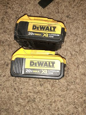 Dewalt batteries for Sale in Lawrence, IN