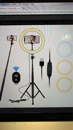 10' Ring Light with Stand, OPPSK 10' Selfie Ring Light for iPhone Android, Phone Tripod Stand for Tiktok/YouTube/Makeup/Photography/Live Steaming, 3 for Sale in Miami, FL