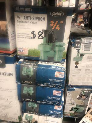 3/4 anti siphon sprinkler valve $8 ea for Sale in Las Vegas, NV