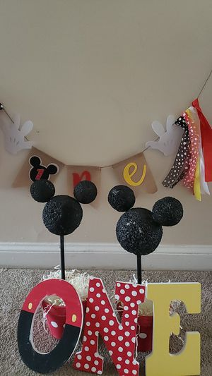 Birthday decorations Mickey mouse for Sale in Chillum, MD