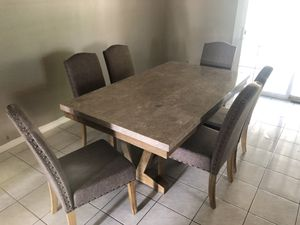 Dining marble table set for Sale in Rosemead, CA