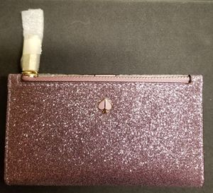 Kate Spade Burgess Court Small Slim Bifold Wallet (Lilac) for Sale in San Diego, CA