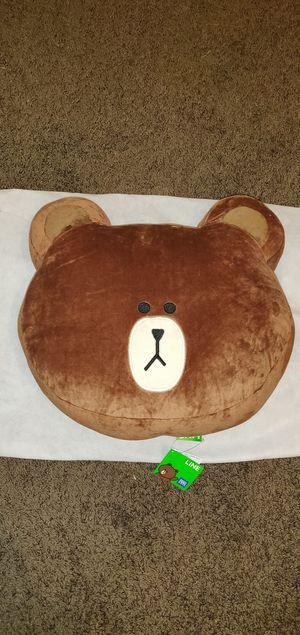 Line Friends Cute Teddy Bear Plushie Pillow Brown for Sale in Elk Grove, CA