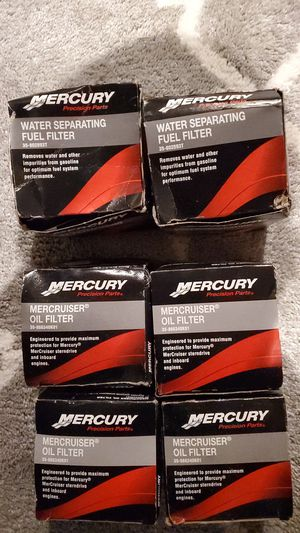 New In Box Mercury Marine Oil and Fuel filters for Sale in Seattle, WA