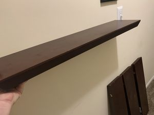 4 Espresso colored floating wall shelves for Sale in Durham, NC