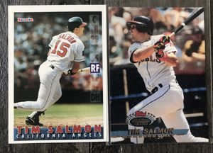 Two Tim Salmon California Angels Baseball Cards for Sale in Costa Mesa, CA