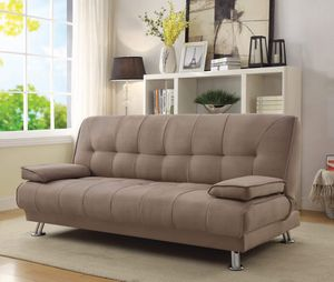 Tufted Upholstered FUTON Sofa Bed Tan for Sale in Los Angeles, CA