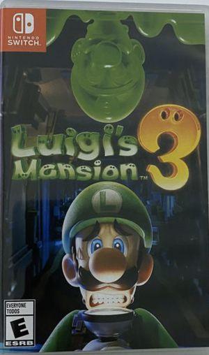 Luigi's Mansion 3 - Nintendo Switch for Sale in Bethesda, MD