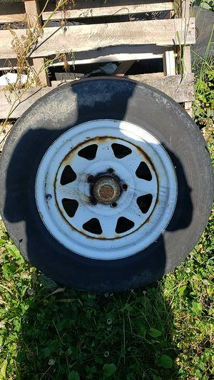 Used trailer tires and rims 205x75x15 for Sale in Wadsworth, OH
