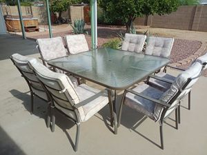 Patio Set, 8 Chairs for Sale in Chandler, AZ