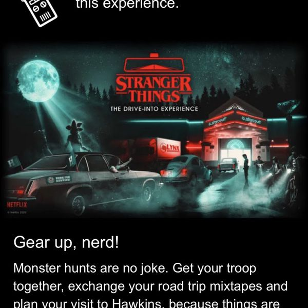 Stranger Things Drive In experience