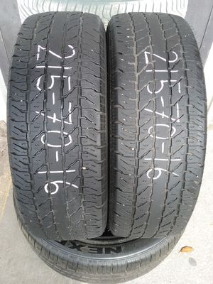 Pair of used 215 70 16 Cooper tires for Sale in Jacksonville, FL