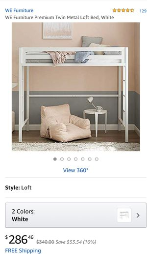 WE Bentley twin metal loft bed for Sale in Ceres, CA
