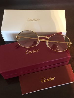 Unisex Gold Frame Cartier Glasses ! Excellent! W box / booklet ! Serious buyers only!!! No trades ! for Sale in Aspen Hill, MD