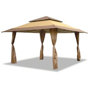 ☀️ BRAND NEW 13 x 13 GAZEBO CANOPY TENT OUTDOOR PATIO SHADE TAN BROWN ON HAND for Sale in Oceanside, CA