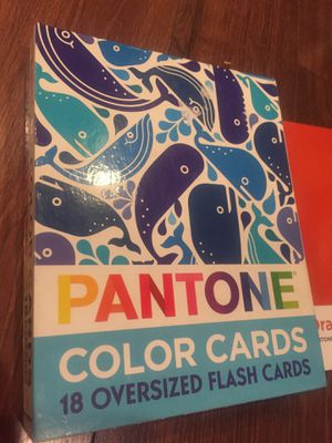 Pantone color cards flash cards game - nursery decor for Sale in Buckeye, AZ