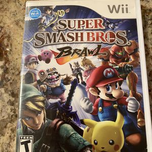 Super Smash Brothers Brawl For Nintendo Wii for Sale in Rancho Cucamonga, CA
