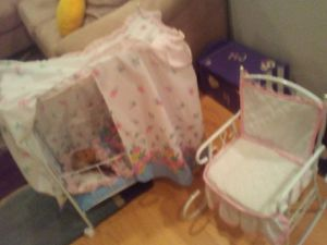 White doll baby bed n rocker for Sale in Whitehall, OH