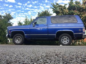 Chevy K5 Blazer, 2 wheel drive, Runs & Drives Good, 3 T.V. Screens and 15 inch Speakers for Sale in Seattle, WA