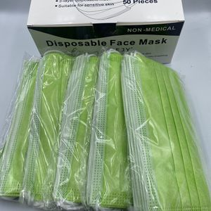 Bright Pink/Lime Green Disposable Masks — 50 pc. for Sale in Downey, CA