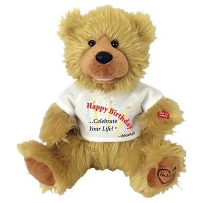 "Great Christmas Present-Chantilly Lane Noah ""Happy Birthday"" Bear 12"""