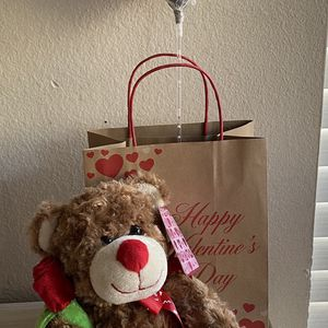 Valentine's Day Plush Teddy Bear Holding A Red Rose for Sale in San Diego, CA