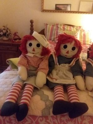 Raggedy Ann and Andy 3 ft 2 sets for Sale in Glendale, AZ