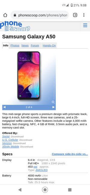 Samsung Galaxy A50 for Sale in UPPER ARLNGTN, OH