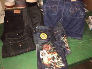 "Men' Designer Jeans 38"" x 34"" (Ed Hardy, Brooklyn Basement, Levi, Etc) for Sale in Orlando, FL"
