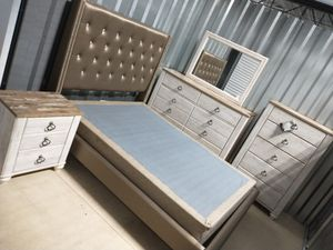 Queen bed room set Ashley's with box spring for Sale in Mebane, NC