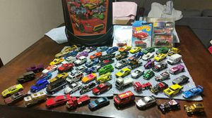 Awesome 70 car hotwheel collection with Carrying case for Sale in Dallas, TX