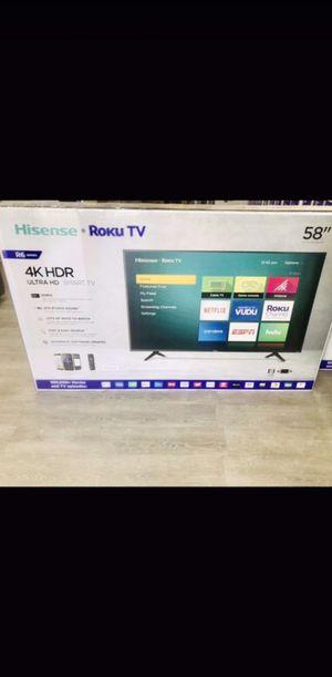 58 inch hisense roku 4K smart tv for Sale in Chino, CA