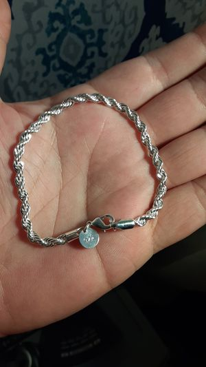 925 sterling silver rope bracelet for Sale in New Port Richey, FL