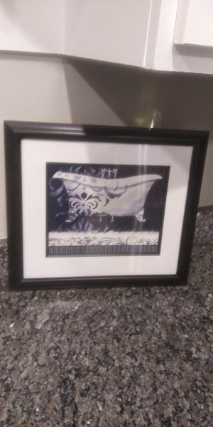 """Bathroom wall art frame 14"""" x 16"""" set of 2 for Sale in Montgomery Village, MD"""