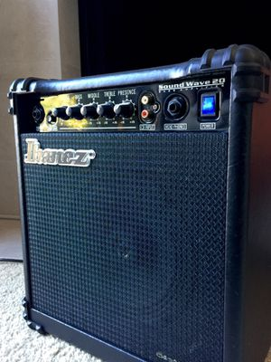 Ibanez Bass Guitar Amplifier Sound Wave 20 Amp LIKE NEW! for Sale in San Carlos, CA