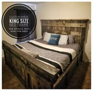 Custom-Made King Size Bed Frame for Sale in Bend, OR
