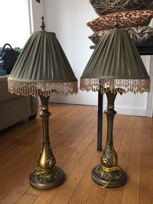 Set of 2 Beaded Lamps for Sale in New York, NY