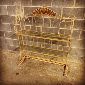 Glass metal shelving unit for Sale in Charlotte, NC