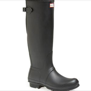 Hunter Rain Boots Matte Black 5 US Women's 4UK Authentic for Sale in San Antonio, TX