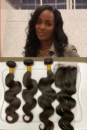 Virgin hummmm Hair, closure and sew in inclined for Sale in Smyrna, GA