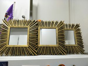 Square Gold wall mirrors set for Sale in Anaheim, CA