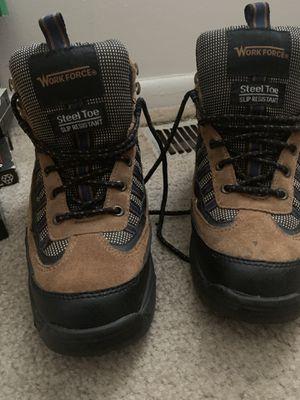 Men's Workforce size 6 1/2 Steel Toe Slip Resistant Boots for Sale in Mount Laurel, NJ