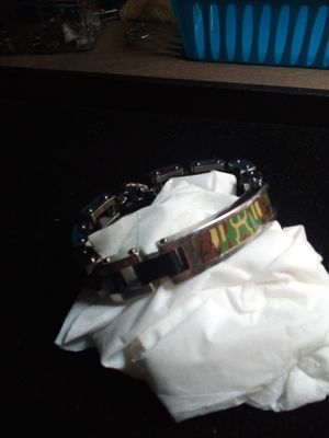 Men's stainless steel camoflauge bracelet for Sale in Northumberland, PA