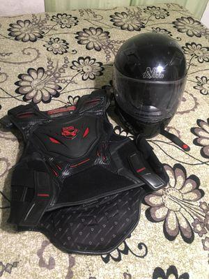 Motorcycle helmet and vest for Sale in Los Angeles, CA