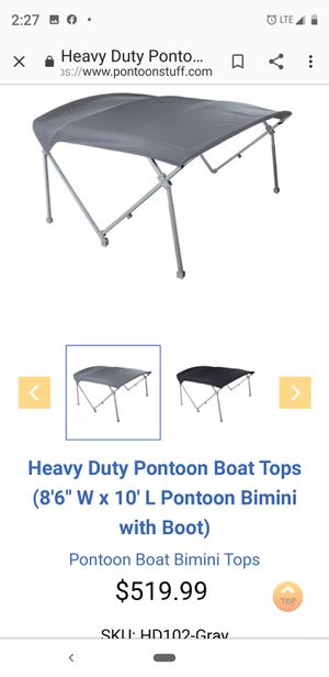 Bimini top for pontoon boat for Sale in Mesa, AZ