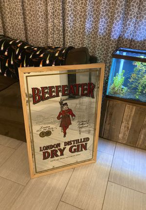 Beefeater Gin Bar Mirror for Sale in St. Petersburg, FL