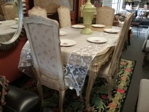 Vintage Hand Painted Dining Room Table & 6 Chairs $1500 for Sale in Hatboro, PA